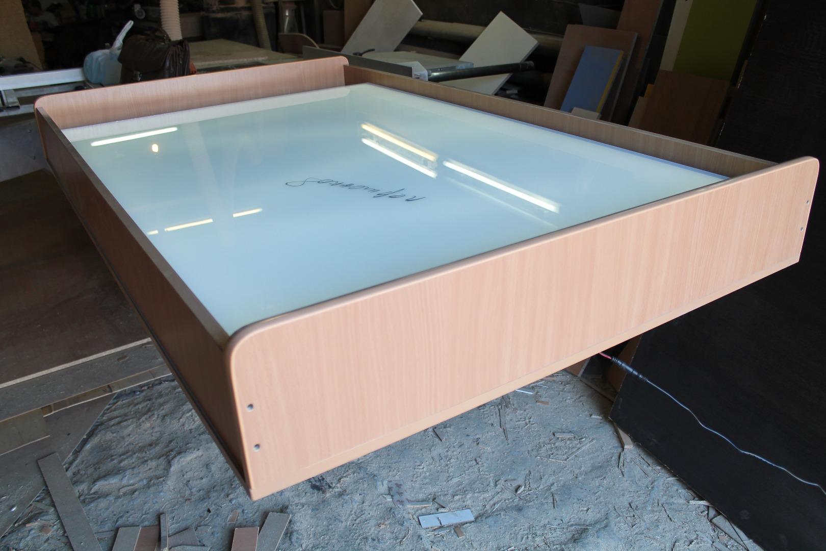 Рисование песком - как сделать стол 7