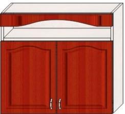 Шкафы кухонные верхние с нишей двухстворчатые / г. тюмень, т.