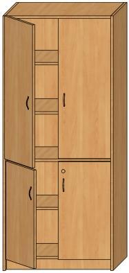 Корпусная офисная мебель - шкафы для одежды, шкафы канцелярс.